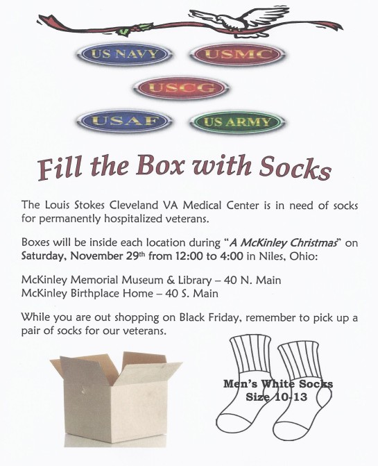 Fill the box with socks