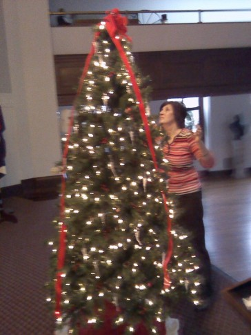 Theresa and tree 2